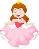 Cartoon princess in pink dress. Illustration of Cartoon princess in pink dress stock illustration