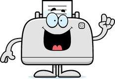 Cartoon Printer Idea Royalty Free Stock Images