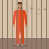 Cartoon prisoner Royalty Free Stock Photo