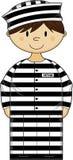 Cartoon Prisoner Royalty Free Stock Image