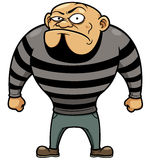 Cartoon Prisoner stock illustration