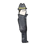 Cartoon private detective Stock Photography