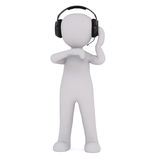 Cartoon Production Crew Member Wearing Head Set Royalty Free Stock Image