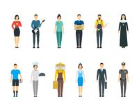 Cartoon Professional People Characters Icon Set. Vector Stock Images