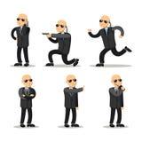 Cartoon Professional Safeguard Man. Security Guard Stock Photography