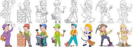 Cartoon Professions Set Royalty Free Stock Photo