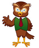 Cartoon Professor Owl Stock Photo