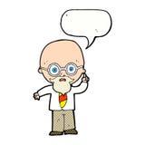 cartoon professor with speech bubble vector illustration