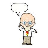 cartoon professor with speech bubble royalty free illustration