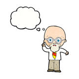 cartoon professor with thought bubble royalty free illustration