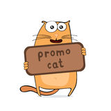 Cartoon promo cat Royalty Free Stock Images