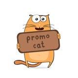 Cartoon promo cat Royalty Free Stock Images