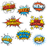 Cartoon Promotional Graphics Stock Photo