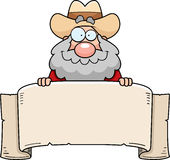 Cartoon Prospector Banner Stock Photo