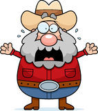 Cartoon Prospector Panicking Stock Image