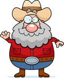 Cartoon Prospector Waving Stock Photography