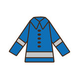 Cartoon protective blue jacket reflecting strips design Stock Images
