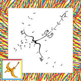 Cartoon pterodactyl dot to dot Stock Photo