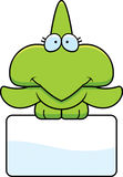 Cartoon Pterodactyl Sign Stock Photo