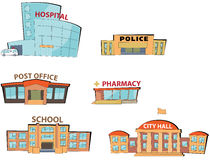 Cartoon public buildings Stock Image