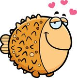 Cartoon Pufferfish in Love Stock Photography