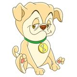 Cartoon pug dog Stock Photo