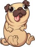 Cartoon pug Stock Photo