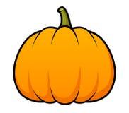 Cartoon Pumpkin. A cute cartoon pumpkin on white Royalty Free Stock Images