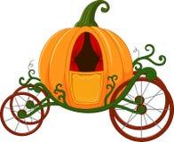 Cartoon Pumpkin carriage Stock Photography