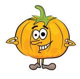 Cartoon pumpkin character Stock Photography