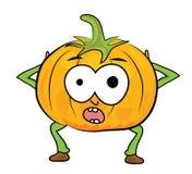 Cartoon pumpkin character Royalty Free Stock Images