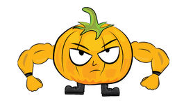 Cartoon pumpkin character Royalty Free Stock Photo