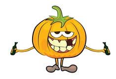 Cartoon pumpkin character Stock Image