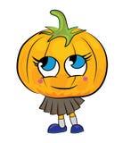 Cartoon pumpkin character Stock Photos
