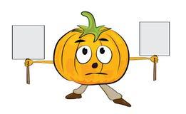 Cartoon pumpkin character Royalty Free Stock Photos