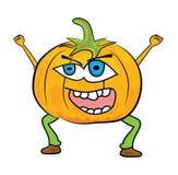 Cartoon pumpkin character Stock Images