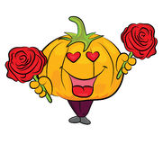 Cartoon pumpkin character Stock Photo