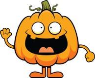 Cartoon Pumpkin Cheerful Stock Image
