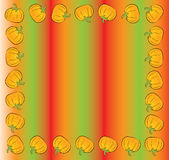 Cartoon pumpkin frame Stock Image