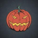 Cartoon Pumpkin. Royalty Free Stock Photo