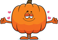 Cartoon Pumpkin Hug Stock Images