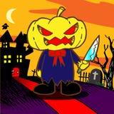 Cartoon pumpkin. Monster. Vector illustration Stock Photo