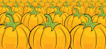 Cartoon pumpkin pattern Royalty Free Stock Photos
