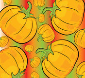 Cartoon pumpkin pattern Royalty Free Stock Photography