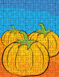 Cartoon pumpkin puzzle pattern Stock Photos