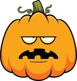 Cartoon Pumpkin Tired Royalty Free Stock Photography