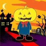 Cartoon pumpkin. Vector illustration. Cartoon pumpkin monster. Vector illustration Royalty Free Stock Photo