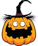 Cartoon Pumpkin Witch Happy Stock Images