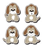 Cartoon pup stickers Royalty Free Stock Photos