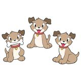 Cartoon Puppies Royalty Free Stock Image